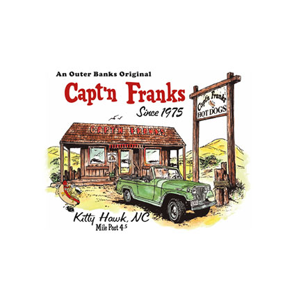 Capt'n Franks | In house and To-go Menu Design